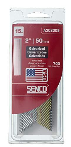 Senco A302009 15-Gauge x 2-Inch Electro Galvanized Finish Nail