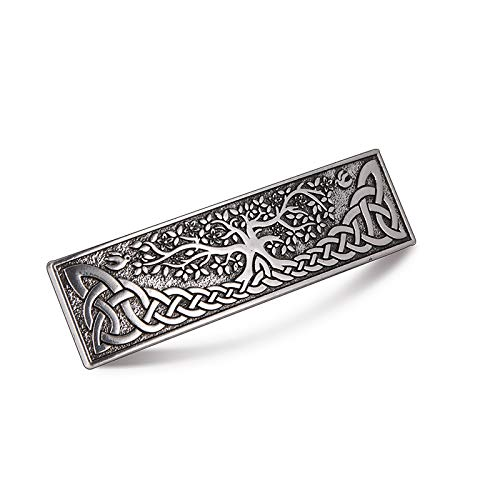 fishhook Celtic Knot Protection Hair Clip Barrettes Hand Mental Haipin Gift for Women (Sliver)