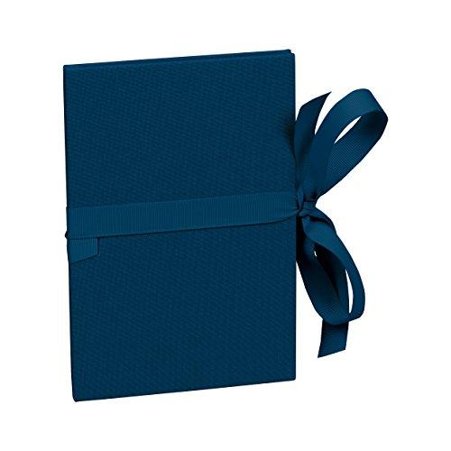 Semikolon (353205) Leporello Classico marine (blau) - Für 14 Bildern im Format 10 x 15 cm - Ziehharmonika-Fotobuch - Format: 12,2 x 17,7 cm