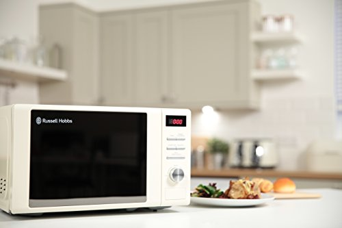 Russell Hobbs RHM2064C 20 Litre 800 W Cream Digital Heritage Microwave with 5 Power Levels, Automatic Defrost, 8 Auto…