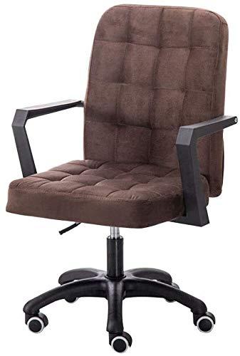 Presidente Ejecutivo, el levantamiento de asiento de la silla del ordenador Rotación Cojín acolchado franela ergonomía Silla de oficina for la Oficina de salas de reuniones giro de 360 grados