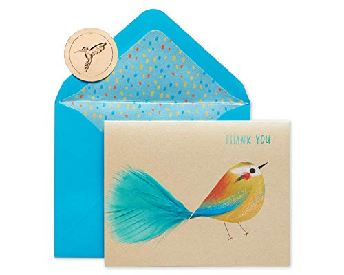 Papyrus Boxed Thank You Cards with Envelopes, Bird (6-Count)