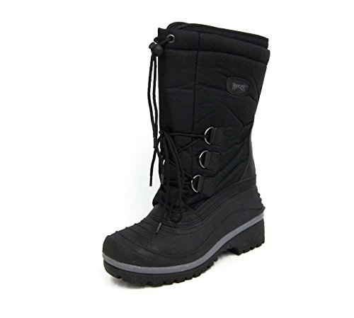 Ranger Mens A410 Tundra Snow Boot, Black (10)