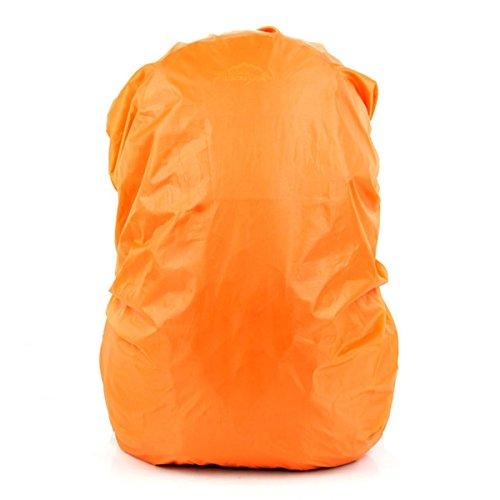 LEDMOMO Sac à Dos imperméable à l'eau, Sac à Dos de Couverture de Pluie de 35L pour la randonnée de Camping voyageant (Orange)