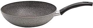 BALLARINI Cortina Granitium Wok 1 Manche, Gris, Diamètre 28 cm