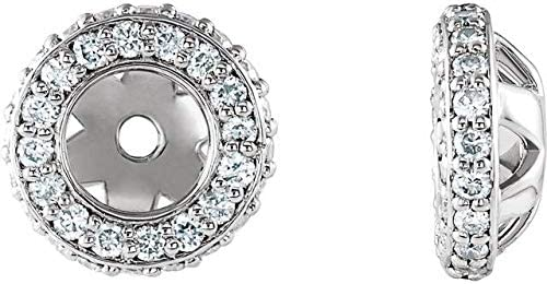 14K Daily bargain sale White Gold Product 1 4 CTW Halo-Style Diamond Earring Earrin Jackets