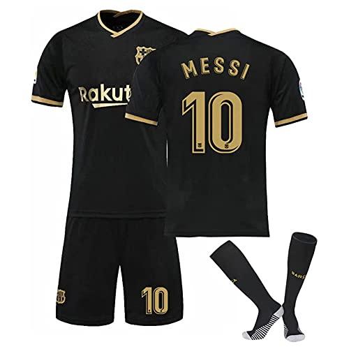 DSechcrsL 2021 Méssi No.10 Barcélona Camiseta De Fútbol De Local Y Visitante,...