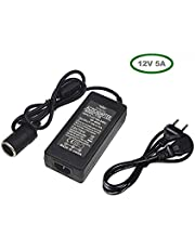 iXport™ AC to DC Converter 12V 5A 60W 110-220V to 12V Car Cigarette Lighter Socket AC/DC Power Adapter Power Supply for Car Vacuum Cleaner Car Fan Car Air Purifier Car MP3 Other Car Devices Under 60W