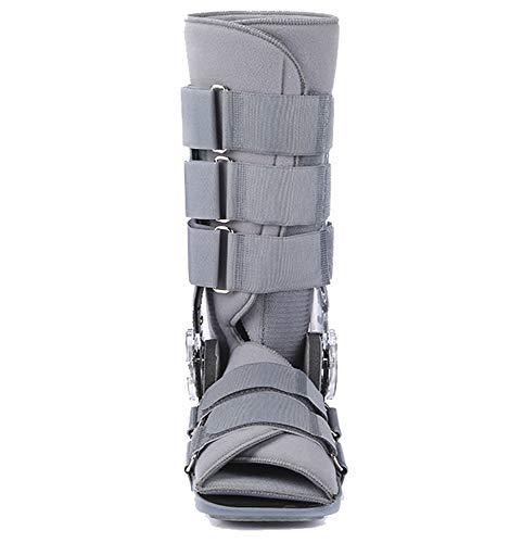 Orthopädische Achillessehnenstiefel, Beinfixierungsschutz für Erwachsene, verstellbare Knöchelriemenstütze, orthopädischer Schlaffixierer-grey-M