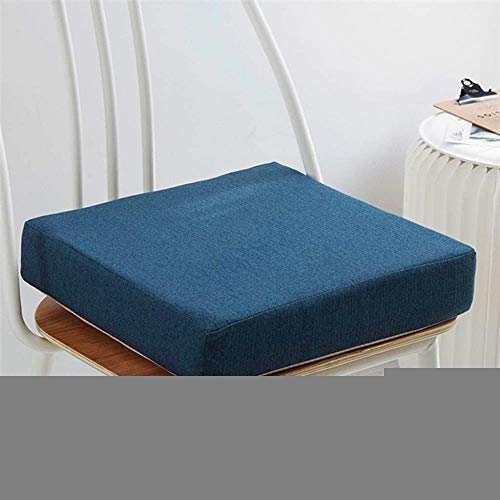 Egosola Cushion Seat Cushion Thicken Square, Solid Color Cotton Linen Chair Pads,Soft Seat Pads for Patio Outdoor Office Car Removable Not-Slip Chair Mat