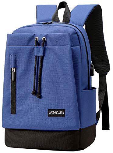 WIEAYUMEI Laptop-Rucksack für 15.6' Business Tasche Vielen Taschen und Fächern Computer Rucksack...