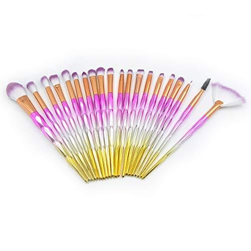 Pinceau de maquillage portable Léger et portable 20 1 diamant poignée Eye brosse de maquillage multi-fonctionnelle Brosse for les femmes (Color : Color3)