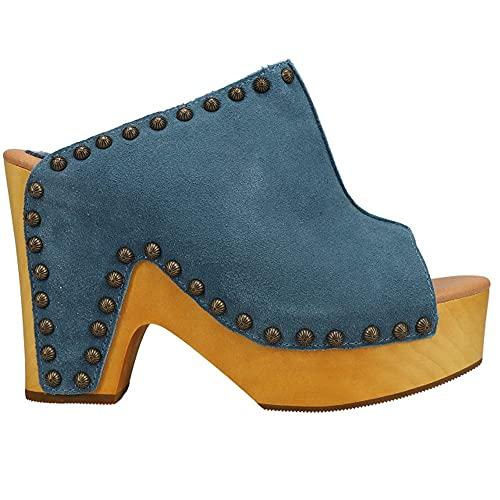 Dingo Womens Peace N' Love Platform Sandals Sandals Casual - Blue - Size 7.5 M