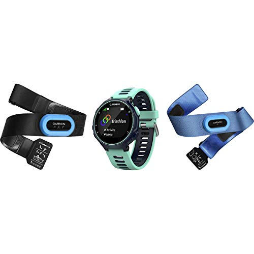 Garmin Forerunner 735XT Tri-Bundle Midnight Blue/Frost Blue, One Size