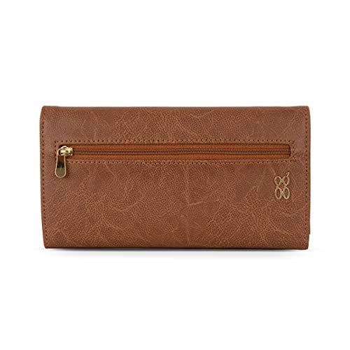 Baggit Autumn-Winter 2021 Faux Leather Women's Harmonium Wallet (Brown) (Lwxe Ting)