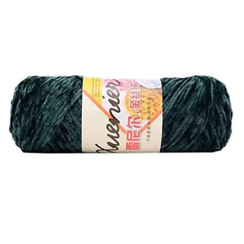 YiFeiCT Hilo de terciopelo de chenilla de 100 g, color sólido, tejido a mano, grueso de ganchillo, ideal para tejer, tejer y hacer ganchillo.