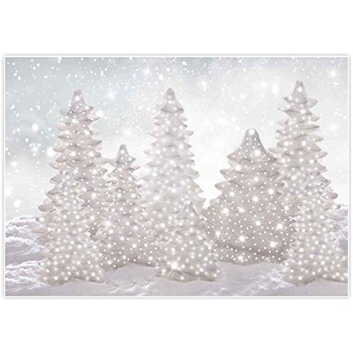 lovedomi 10x7ft Winter Wonderland Background New Eve Party Supplies Christmas White Tree Photography Background Baby Shower Family Party Birthday Background Baby Shower Decoration Vinyl Material
