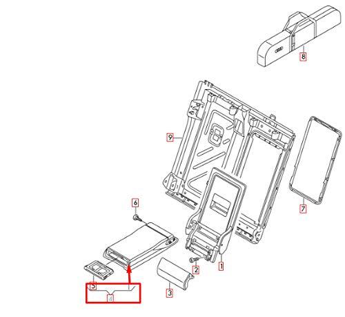 GTV INVESTMENT A3 8PA Rücksitz-Armlehne 8V0885081AQT7 Neu Original 2013