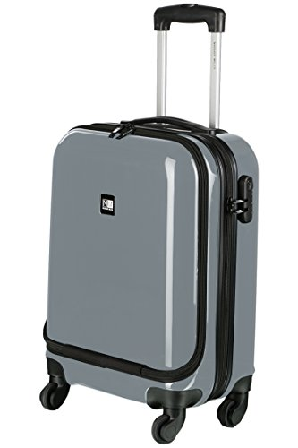 Nasher Miles New York Plus ABS & Pc 48 cm Grey Hard Sided Cabin Bag
