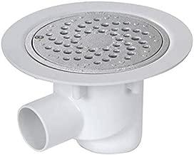 ECD Germany Siphon tube pour urinoir DN 32mm blanc en plastique siphon bouteille pi/ège /à odeurs set de d/échets en saillie /Ø50 x 32 mm ensemble pour installation