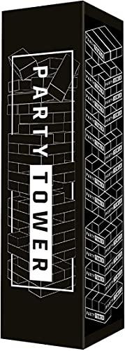 PartyTower das perfekte Trinkspiel Partyspiel - Wackelturm Drunken Tower mit 36 Aufgaben und Challenges