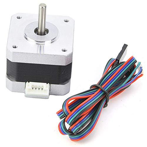 YHtech Stepper Motor CNC DC4.0V 1.2A 1.8° Nema 17 Bipolar Stepping Motor 320mN.m/45oz.in for 3D Printer 34mm Height Printer Accessories