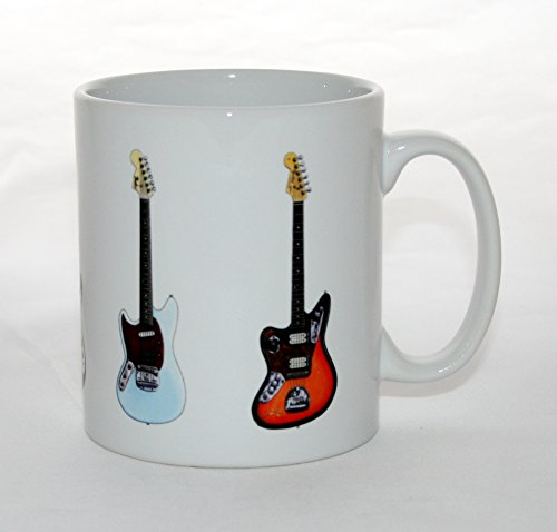 Kurt Cobain Guitar-Becher. 5 berühmte Gitarren. Fender & Mosrite.