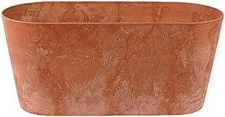 comprar comparacion Artstone Maceta para Flores Balconera Claire, Resistente a Las heladas y Ligera, Tierra, 38x16x17cm