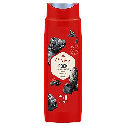 Old Spice Rock Duschgel und Shampoo, 250ml, 2in1 Showergel + Shampoo für Männer, mit Männlichem Langanhaltendem Duft