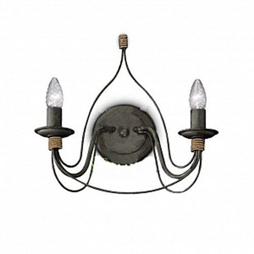 Ideal Lux Lampe à paroi Cour AP2 Couleur Rouille et Monture en métal
