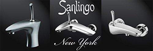 Sanlingo – Designer-Badewannenarmatur der Serie New York, Einhebelmischer, Chrom - 2