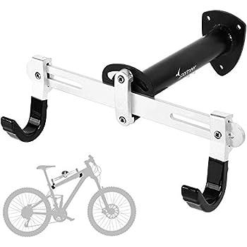 Sportneer Soporte de Pared para Bicicleta Soporte de Montaje para Bicicleta de Carretera, Bicicleta de montaña, BMX, Ángulo y Longitud Ajustable