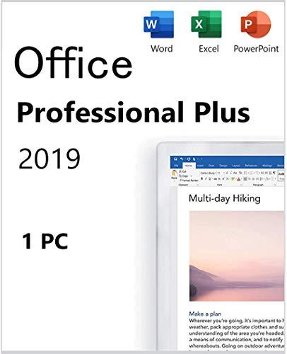 Compatible con Office 2019 Professional Plus Enviar código clave + enlace de descarga a través de un mensaje de Amazon en 15 horas Código clave para sistema Windows 1PC Sin envío de Cd / Dvd /