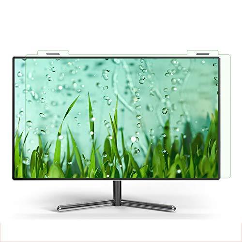 SYEA displayschutz Blendschutzbildschirm Blaulicht Strahlenschutz Fleckenbeständig Aufhängen Am Monitor Grüner Bildschirmschutz(Size:21.5in(491×288mm))