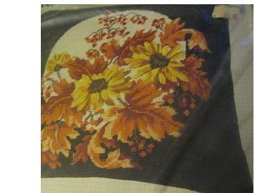 Vintage Bucilla Field Daisies Needlepoint Pillow Kit