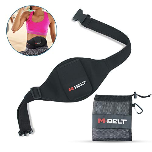 M-Belt - Mic Belt for Fitness Instructors - Vertical Microphone Transmitter Carrier Belt - Keep Your Mic Transmitter Secure - Fitness Class/Public Speaking/Theatre - Durable and Machine Washable