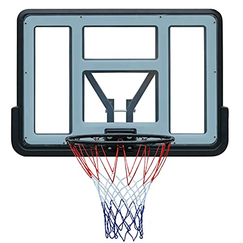 ZXCVB Hoop de Baloncesto portátil, Hogar al Aire Libre Adulto Baloncesto Interior Hoop Baloncesto Tablero Aro, 44 Pulgadas