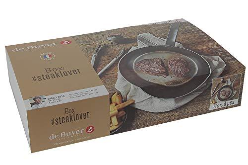 De Buyer 5610.03 Box #Steaklover : Mineral B 26 + Pfannenwender + Mühle