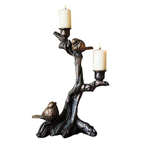 Tafellamp, bedlamp, leeslamp, Europese stijl, retro, kunsthars, kandelaar, kandelaar, antieke look, koper, kleur huis, keuken, accessoires binnen