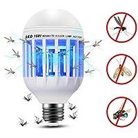 Bombilla Zapper Mobestech de doble uso para LED Zebra LED Anti-mosquito para uso doméstico con bombilla 15W mosquitera para uso en interiores