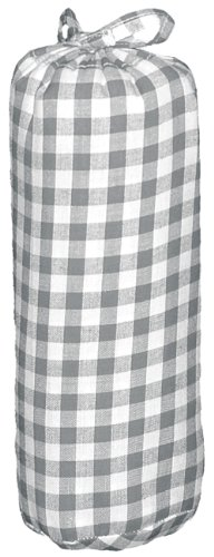 Taftan Drap Housse Gros carreaux gris (60 x 120 cm) - Gris