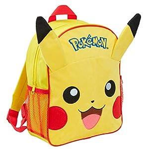 411Pq+XsyqL. SS300  - Pokemon Pikachu Kids 3D Plush Mochila, Pikachu (Amarillo) - MNCK10221