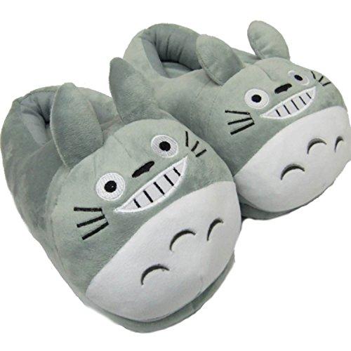 Kigurumi - Zapatillas de invierno antideslizantes para carnaval, Totoro, 39/43 EU