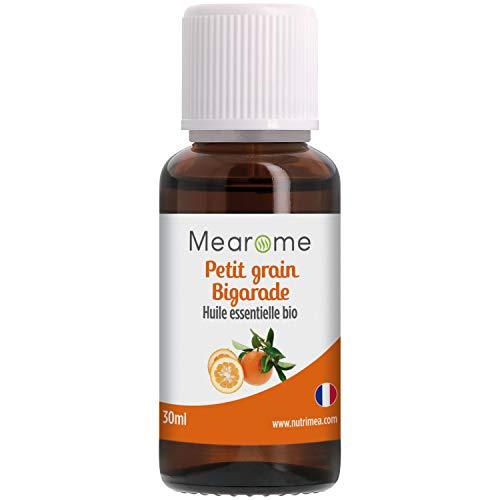 Huile Essentielle de PETIT GRAIN BIGARADE BIO - Citrus Aurantium - Distillée en FRANCE - Mearome - 30ml - 100% Pure et Naturelle, HEBBD, HECT