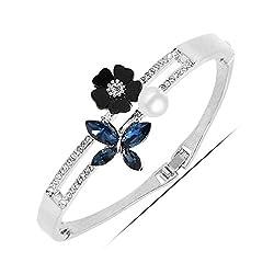 96af7ac52 University Trendz 18k white gold Plated Bracelet Antique Charming Crystal  Bracelet for Girls and Women