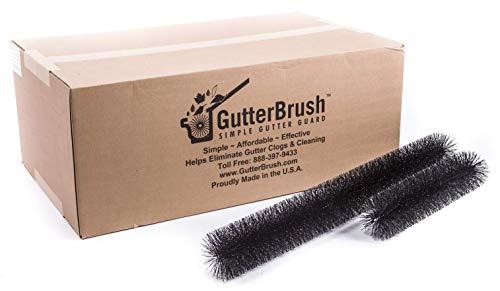 GutterBrush Simple Gutter Guard | for Standard 5' Gutters | Easy, No Tools DIY Gutter Leaf Guard (120 Ft.)