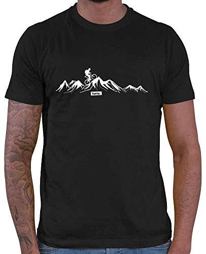 HARIZ Herren T-Shirt Mountainbike Fahrrad Berge Mountain Plus Geschenkkarten Schwarz M