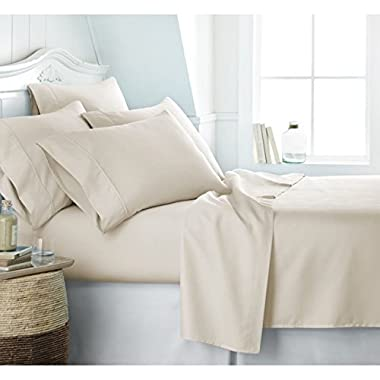 Egyptian Luxury 1800 Hotel Collection Bed Sheet Set - Deep Pockets, Wrinkle and Fade Resistant, Hypoallergenic Sheet and Pillow Case Set - (King, Cream)