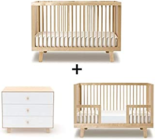 Oeuf Sparrow Collection Complete Nursery in Birch with 3 Drawers