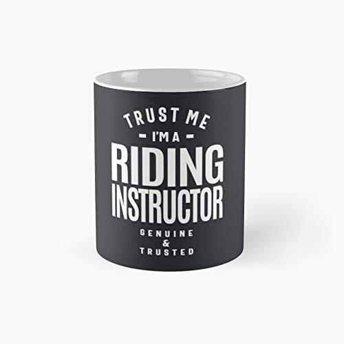 Regalo de instructor de equitación divertido título de trabajo profesión idea de cumpleaños taza clásica mejores tazas de café 11 oz